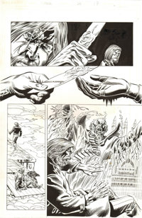 Ted Halsted and MIKE DECARLO AND WINSTON BLAKELY ETERNAL WARRIOR #24 Page