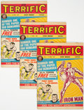 Magazines:Superhero, Terrific! #1 Group of 3 (Odhams Press, 1967) Condition: Average FN-.... (Total: 3 Comic Books)