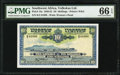 World Currency, Southwest Africa Volkskas Limited 10 Shillings 4.6.1952 Pick 13a PMG Gem Uncirculated 66 EPQ.. ...