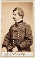 Photography:CDVs, Nathaniel Banks Signed Twice Carte de Visite....