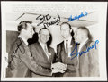 Autographs:Photos, Don Drysdale, Sandy Koufax, Willie Mays, Stan Musial Multi-Signed Photograph....