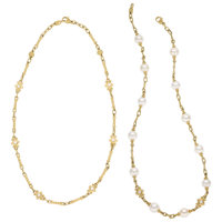 Diamond, Cultured Pearl, Gold Necklaces, Judith Ripka ... (Total: 2)
