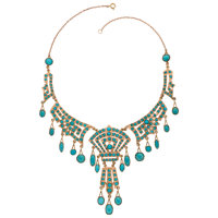 Turquoise, Gold Necklace