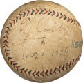 Baseball Collectibles:Balls, 1920 Ty Cobb Single Signed Baseball with Family Provenance. ...