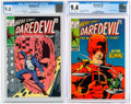 Silver Age (1956-1969):Superhero, Daredevil #51 and 53 CGC-Graded Group (Marvel, 1969).