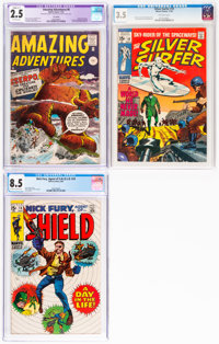 Marvel Silver Age Comics CGC-Graded Group of 3 (Marvel, 1961-69).... (Total: 3 Items)