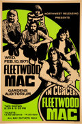 "Music Memorabilia:Posters, Fleetwood Mac 1971 Concert Poster, the ""Kiln House"" Album Tour with Christine McVie...."