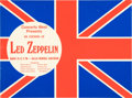 Music Memorabilia:Posters, Led Zeppelin 1970 Dallas, TX Union Jack Concert-Advertising Handbill....