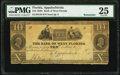 Obsoletes By State:Florida, Appalachicola, FL- Bank of West Florida $10 18__ Remainder G36 PMG Very Fine 25.. ...