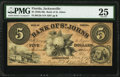 Obsoletes By State:Florida, Jacksonville, FL- Bank of St. Johns $5 Oct. 1, 1859 G2b PMG Very Fine 25.. ...