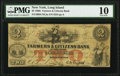 Williamsburgh, NY- Farmers & Citizens Bank of Long Island $2 Apr. 28, 1862 PMG Very Good 10