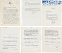 "Frank Capra 8 ½"" x 11"" Letters (27) Including One Signed By Capra (circa 1940s-1960s)"