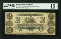 Newport, RI- New England Commercial Bank Fully Issued $2 July 1, 1864 G44a Durand 621 PMG Choice Fine 15