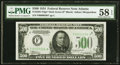 Fr. 2201-F* $500 1934 Dark Green Seal Federal Reserve Note. PMG Choice About Unc 58 EPQ