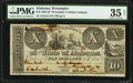 Obsoletes By State:Alabama, Wetumpka, AL- Wetumpka Trading Company $10 Jan. 25, 1839 G12 PMG Choice Very Fine 35 Net.. ...