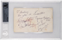 The Beatles Signed and Inscribed Parlophone Records Promo Card (1963)