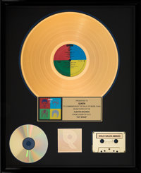 Queen Hot Space RIAA Hologram Gold Sales Award Presented to Band (Elektra, 1982)