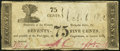Obsoletes By State:New York, Bath (?), NY- A. Cooper (?) 75¢ Oct. 6,1862 Very Good-Fine.. ...