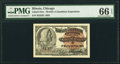 Miscellaneous:Other, World's Columbian Exposition Ticket 1893 Columbus PMG Gem Uncirculated 66 EPQ.. ...