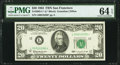 Fr. 2065-L* $20 1963 Federal Reserve Note. PMG Choice Uncirculated 64 EPQ