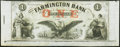Obsoletes By State:New Hampshire, Farmington, NH- Farmington Bank $1 Dec. 4, 18__ Remainder Choice Crisp Uncirculated.. ...