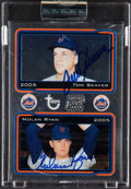 Baseball Cards:Singles (1970-Now), 2005 Topps Retired Signature Co-Signers Tom Seaver/Nolan Ryan #CS-SR - Serial Numbered 9/49....