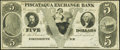 Obsoletes By State:New Hampshire, Portsmouth, NH- Piscataqua Exchange Bank $5 18__ Remainder Choice Crisp Uncirculated.. ...