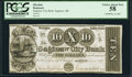 Obsoletes By State:Michigan, Saginaw, MI- Saginaw City Bank $10 Dec. 26, 1837 Serial #5 PCGS Choice About New 58.. ...