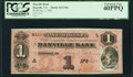 Obsoletes By State:Virginia, Danville, VA- Danville Bank $1 Jan. 2, 1862 G10a Jones BD05-06 PCGS Extremely Fine 40PPQ.. ...