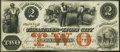 Obsoletes By State:Iowa, Lyons City, IA- Treasurer of Lyons City $2 Jan. 3, 1858 Choice About Uncirculated.. ...