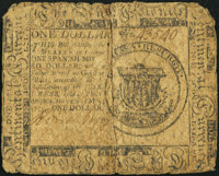 Continental Currency May 10, 1775 $1 Very Good