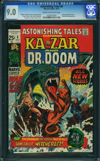 Astonishing Tales #8 (Marvel, 1971) CGC VF/NM 9.0 Cream to off-white pages