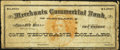 [Valparaiso], IN - [Valparaiso University] - Commercial College Bank/Merchants Commercial Bank of Cleveland $1,000 ND (1...