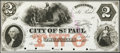 Obsoletes By State:Minnesota, St. Paul, MN - Treasurer of the City of St. Paul $2 18__ Hewitt 363-D2b, Rockholt 32 Proof Uncirculated, 6 POCs.. ...