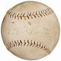 Circa 1920s Babe Ruth Single-Signed Baseball
