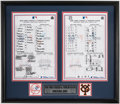 Baseball Collectibles:Others, 2004 New York Yankees-Yomiuri Giants Exhibition Dual-Lineup Card Display....