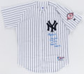 Autographs:Jerseys, Roger Clemens Signed and Inscribed New York Yankees Jersey....
