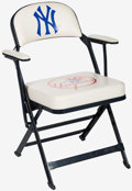 Baseball Collectibles:Others, 2005 Hideki Matsui New York Yankees Locker Room Chair With Steiner Letter....