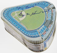 George Steinbrenner Signed Yankee Stadium Tin