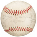 Autographs:Baseballs, 1972 New York Yankees Team Signed Baseball. ...