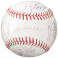 Autographs:Baseballs, 2006 New York Yankees Team Signed Baseball with Cory Lidle (28 Signatures). ...