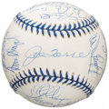 Autographs:Baseballs, 1998 New York Yankees Team Signed Baseball - World Series Champions!...