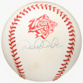 Autographs:Baseballs, 1998 Derek Jeter Single-Signed World Series Baseball. ...