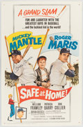 "Autographs:Others, ""Safe at Home!"" Movie Poster Signed by Mickey Mantle...."