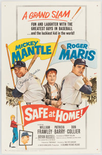 """Safe at Home!"" Movie Poster Signed by Mickey Mantle"