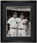 Autographs:Photos, Joe DiMaggio and Mickey Mantle Signed Oversized Framed Photograph. ...