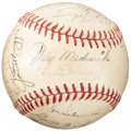 Autographs:Baseballs, 1947 New York Yankees Team Signed Baseball...