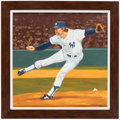 Baseball Collectibles:Others, Original Artwork of New York Yankees Pitcher Goose Gossage. ...