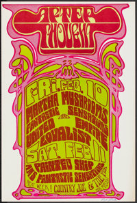 """Martha Mushroom's Fantastic Sensations at Afterthought (1966). Very Fine. Autographed Concert Poster (12"""" X 18""""..."""