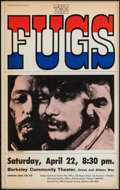 """Movie Posters:Rock and Roll, The Fugs at the Berkeley Community Theater (1967). Fine/Very Fine. Concert Window Card (14"""" X 22"""") Joel Brodsky Photography...."""